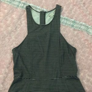 AMERICAN EAGLE SKATER DRESS WITH STRIPES STRETCHY